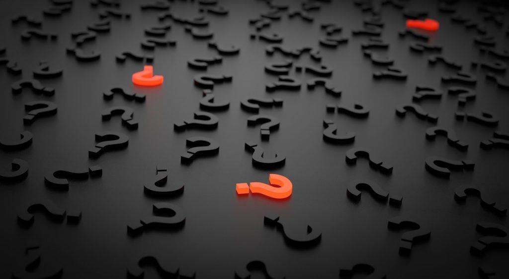Fragezeichen - Frage Antwort